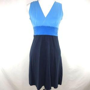 Patagonia Blue Margot Wrap Athletic Travel Dress S